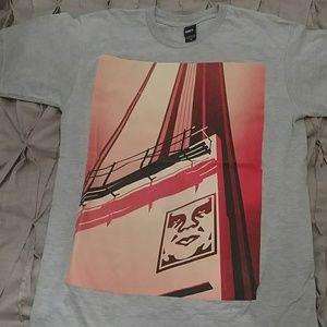 Mens OBEY sz M graphic t shirt